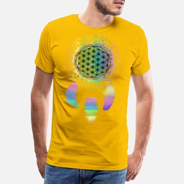Pill Ecstasy Flower of life dream catcher rainbow gift idea - Men's Premium T-Shirt