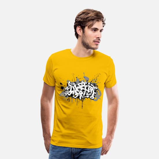 Graffiti T-Shirts - Graffiti - Men's Premium T-Shirt sun yellow
