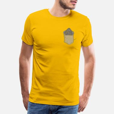 Fishing Funny skate in chest pocket Used look - Men's Premium T-Shirt