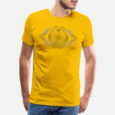 Mythologie Man in the Maze - Tribal Tattoo - gold silber - Männer Premium T-Shirt
