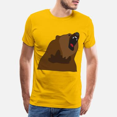 Growl Growling Bear - Men's Premium T-Shirt