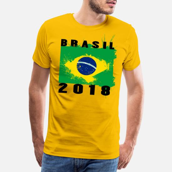 Brasil Drapeau T-shirt Brésil Brésilien SPORT FOOTBALL SOCCER anniversaire Fashion Cadeau