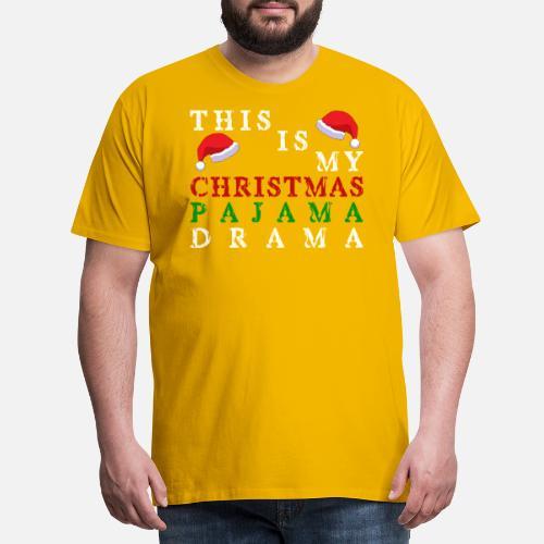 Jul pyjamas - Premium T-shirt mænd. Bagpå. Bagpå. Motiv. Foran. Foran 0c88e2211e439
