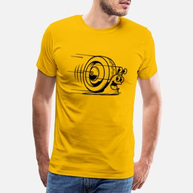 Amusant speed snail - T-shirt premium Homme