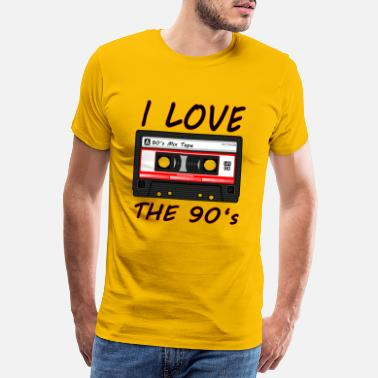 90s I Love The 90's 90s, 90s, dance, music, nineties - Men's Premium T-Shirt