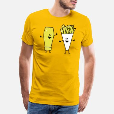 Aperitivo mayonnaise french fries - Camiseta premium hombre