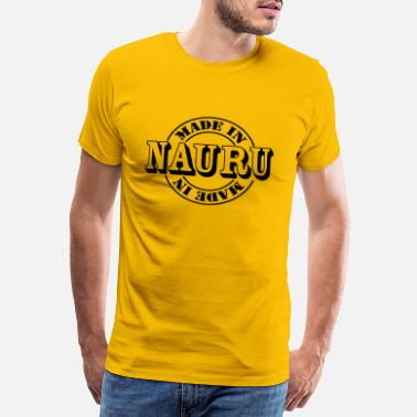 Nauru made in nauru m1 - Mannen Premium T-shirt