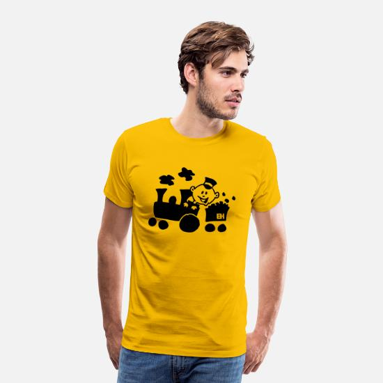 Locomotive T-Shirts - Train - Men's Premium T-Shirt sun yellow