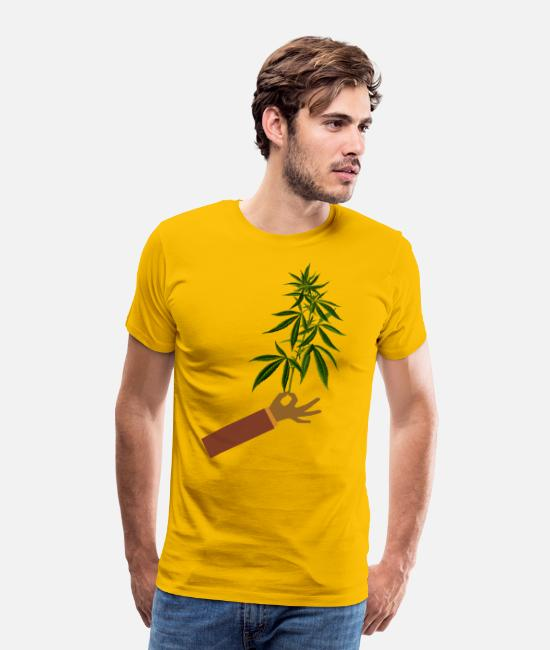 Medicine T-Shirts - Mary Jane # 4 - Men's Premium T-Shirt sun yellow