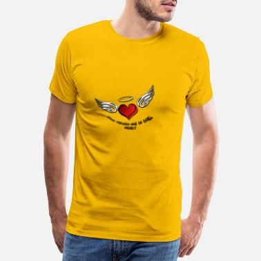 Angelwings angel heart 1 - T-shirt premium Homme