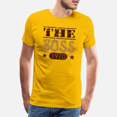 Springsteen The Boss 1970 08 - Mannen premium T-shirt