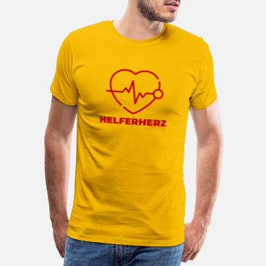 Helper Helper heart - Men's Premium T-Shirt