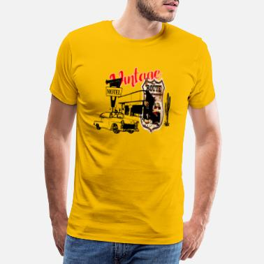 Car Classic car muscle car in the desert - Men's Premium T-Shirt