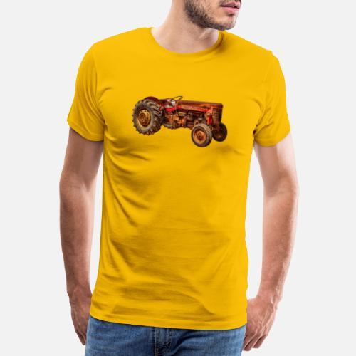 746e9622 vintage rød traktor Premium T-skjorte for menn   Spreadshirt