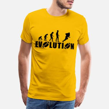 Loyalty Sayings EVOLUTION AMERICAN FOOTBALL - Men's Premium T-Shirt