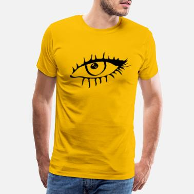 Seeing Eyelashes Eye drawing gift idea see eyelash iris - Men's Premium T-Shirt