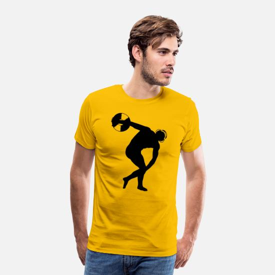 Dj T-Shirts - DJ discus - Men's Premium T-Shirt sun yellow