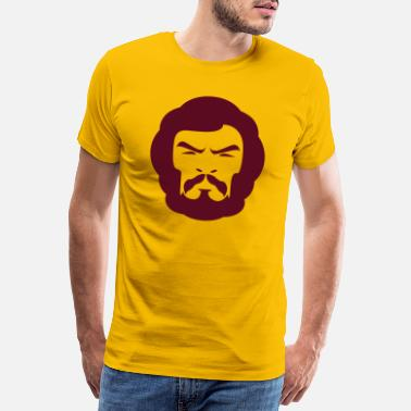 Abe Hairy hoved  - Premium T-shirt mænd