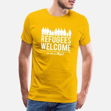 Welcome Refugees welcome - Men's Premium T-Shirt