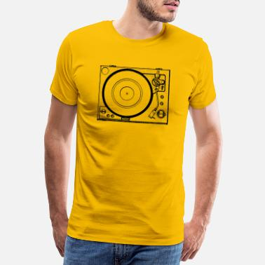 Record Player Classic record player from above - Men's Premium T-Shirt