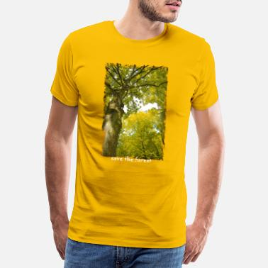 Blätterdach Save The Forest - Männer Premium T-Shirt