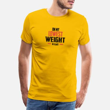 Weights Weight Loss Fit Fitness Gift Weight Training - Men's Premium T-Shirt