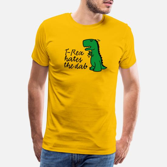 Dabbing T Rex Mens Short-Sleeve Polo Sport Shirt