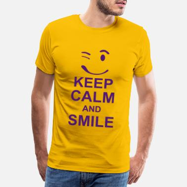 f4d2d8329db1c Keep Calm keep calm and smile kg10 - T-shirt premium Homme