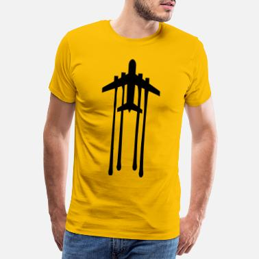 Blood Drop blood drop chemtrails graffiti stamp line airplane - Men's Premium T-Shirt