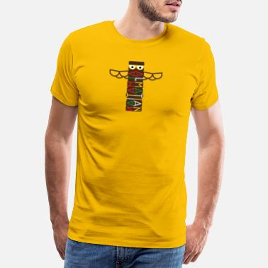 Totem Dalmatian Color Totem Pole - Men's Premium T-Shirt