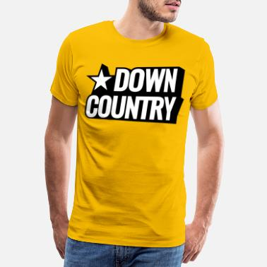 Down Country Downhill Mountain Bike - Mannen premium T-shirt