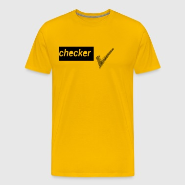checker uno - Mannen Premium T-shirt