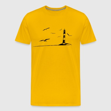 North Sea Lighthouse Seagull Idylle Holiday Gift - Men's Premium T-Shirt