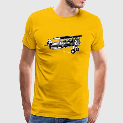 Airplane / Airplane 01_black white - Men's Premium T-Shirt