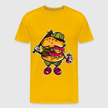 Gangster Burger - Cartoon and Cartoon Shirt Motif - Men's Premium T-Shirt