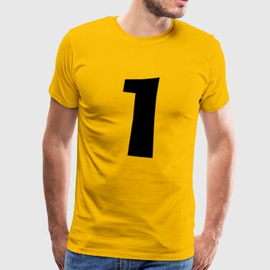 Number 1 one gift idea graphic - Men's Premium T-Shirt