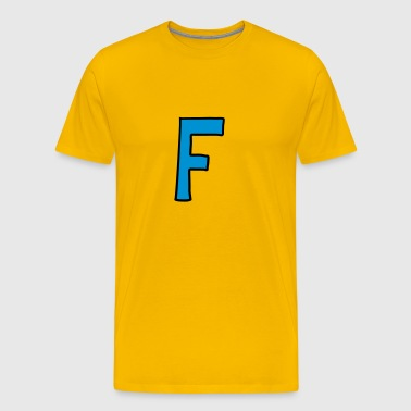 Letter F comic cartoon - Men's Premium T-Shirt