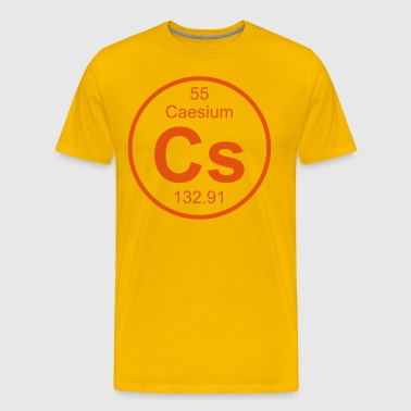 Caesium (Cs) (element 55) - Men's Premium T-Shirt