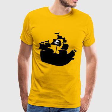 piratenschip - Mannen Premium T-shirt