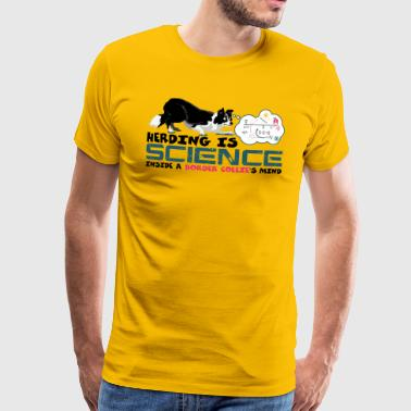 Herding is Science - Men's Premium T-Shirt