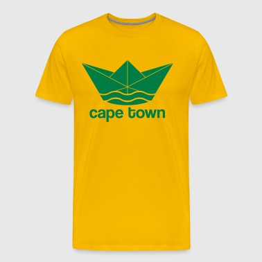 Cape town / Cape Town -Design (paper ship) - Men's Premium T-Shirt