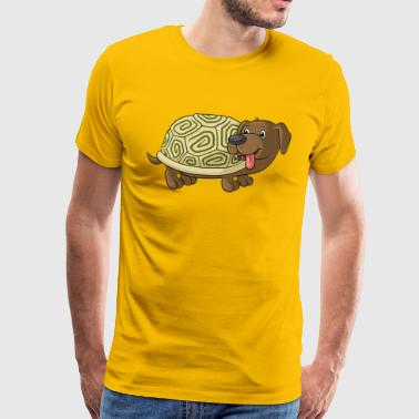 Cute cartoon Dachshund Toad - Men's Premium T-Shirt