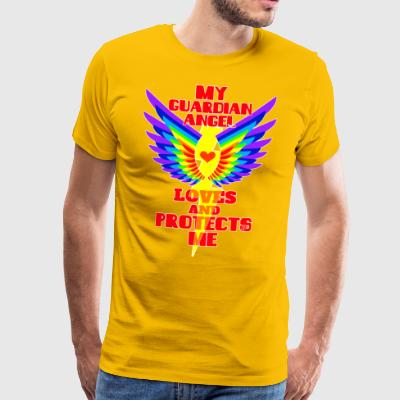 My guardian angel loves and protects me - Men's Premium T-Shirt