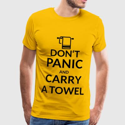 Do not panic on carry a towel - Men's Premium T-Shirt
