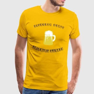 Stag Drinking Guards de pret - Mannen Premium T-shirt