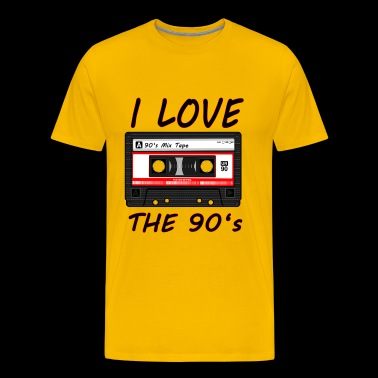 I Love The 90's 90s, 90s, dance, music, nineties - Men's Premium T-Shirt