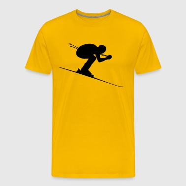 Downhill Skier Ski Alpin - Men's Premium T-Shirt