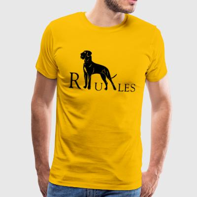 dogge rules - Men's Premium T-Shirt