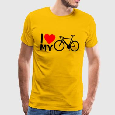 Bicycle road bike bike ride - Men's Premium T-Shirt