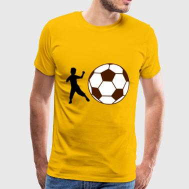 Kid Football - Men's Premium T-Shirt